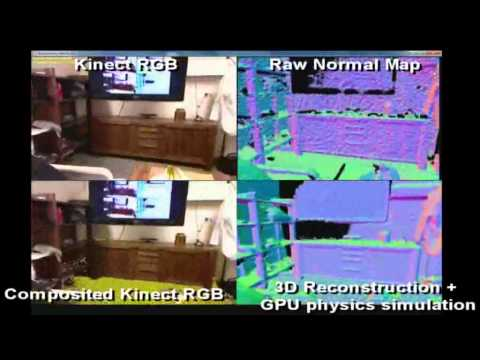 Modeling An Entire Room With Kinect (kinectfusion)
