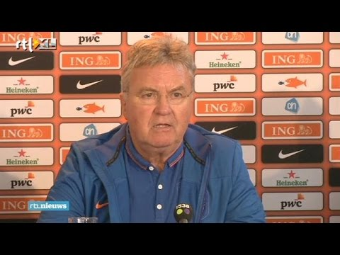 Guus Hiddink op het matje bij KNVB door matig spel Nederlands elftal