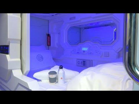 Hotel in Ljubljana bietet Schlafkapseln als günstige Zi ...