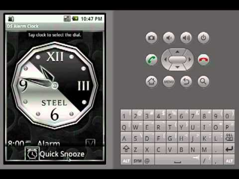 Video of Silver Alarm Clock Widget
