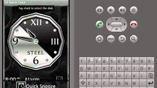 Silver Alarm Clock Widget YouTube video
