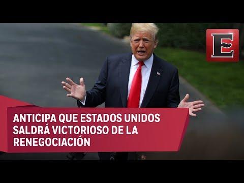 No ha sido fácil negociar el TLCAN con México y Canadá: Trump