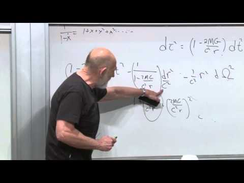 General Relativity - October 22, 2012 - Leonard Susskind derives the spacetime metric for a gravitational field, and introduces the relativistic mathematics that describe a black...