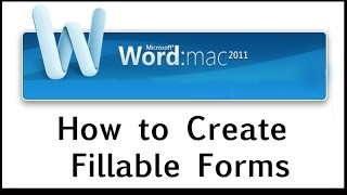 Video How to Create Fillable Forms on Word 2011 for MAC MP3, 3GP, MP4, WEBM, AVI, FLV Juli 2018