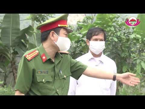 Đoàn kiểm tra số 2 của huyện kiểm tra phòng chống covid tại Châu Hồng, Châu Thành.