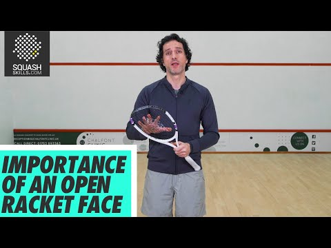 Squash tips: The Grip with Lee Drew - Importance of an open racket face