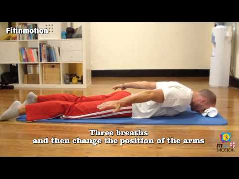 Exercises against the kyphosis