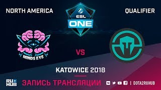 Minds Eye Gaming vs Immortals, ESL One Katowice NA, game 1 [Lum1Sit, Inmate]