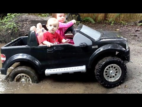 High Volts RC – Power Wheels Mudding – Tommy's First Mud Bog