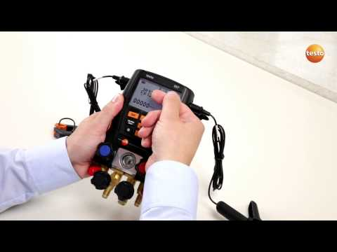 "Testo 557 Refrigeration gauges ""How to videos"""