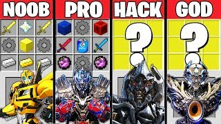Video SUPER TRANSFORMERS BATTLE CRAFTING CHALLENGE MINECRAFT NOOB VS PRO VS HACKER VS GOD MP3, 3GP, MP4, WEBM, AVI, FLV Juni 2019