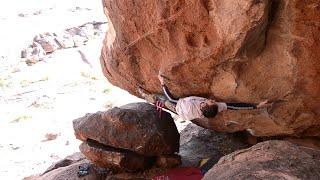 Desert Days: David Mason climbs Li (V13) in Hueco Tanks by teamBMC