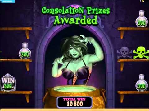 Lucky Witch Slots Big Bonus Win and 13 Free Spins