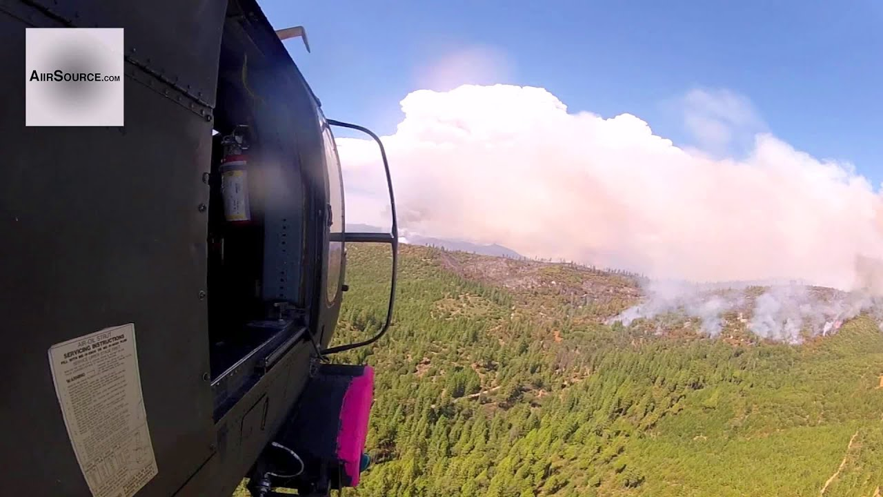 UH-60 Black Hawk – Fighting Rim Fire Near Yosemite With Bambi Bucket