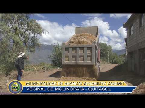 MUNICIPALIDAD DE ABANCAY REHABILITO EL CAMINO VECINAL MOLINOPATA-QUITASOL