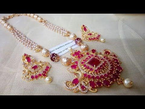 Latest South Fresh Sea Pearl Jewellery Designs