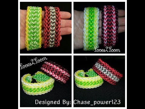 "New* Inverted Fringe"" Advanced Rainbow Loom Bracelet/ How To Tutorial"