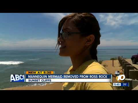 Mermaid vanishes from Sunset Cliffs rock