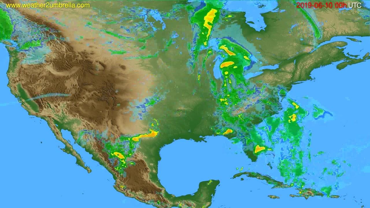 Radar forecast USA & Canada // modelrun: 12h UTC 2019-06-09