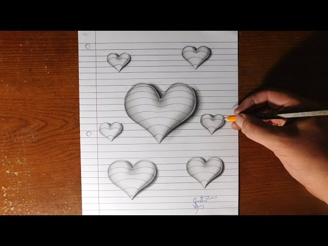 How To Draw 3d Hearts Dos Don Ts Realistic Eyes Easy Step