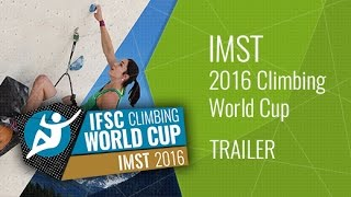 Upcoming LiveStream Trailer - IFSC Climbing World Cup Imst 2016 - Lead by International Federation of Sport Climbing
