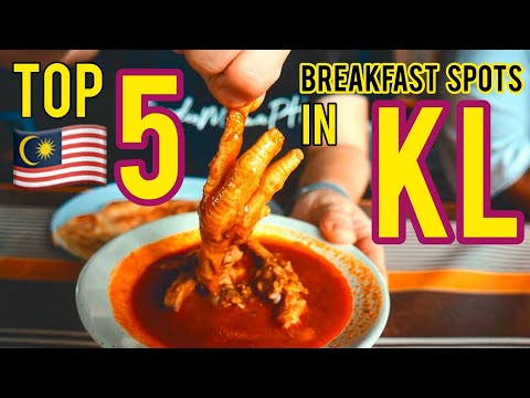 MALAYSIA Street Food Tour! Breakfast Tour of Kuala Lumpur! BEST Street Food in Malaysia 🇲🇾