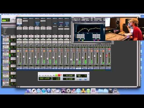 Protools Mixing Drums at Ear Witness Studios