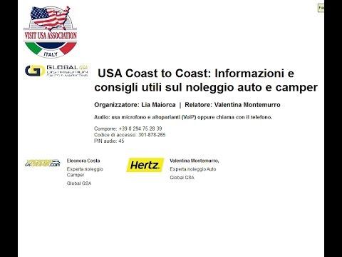 Video USA Coast to Coast: Informazioni e consigli utili sul noleggio auto e camper (30/11/2016)