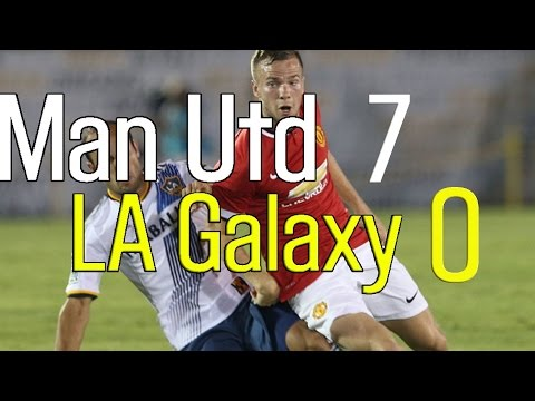 La - Manchester United got their pre-season campaign off to a magnificent start last night as they put seven past the LA Galaxy. Coach Louis van Gaal was all smiles as The Reds sent a message home...