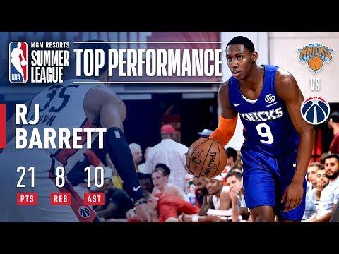 Video: RJ Barrett Shines in Knicks Summer Finale | July 13, 2019