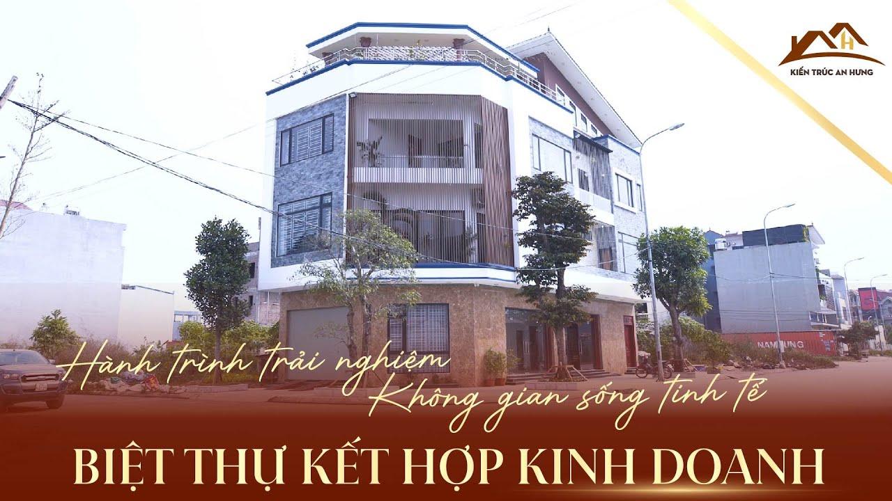 Thi công biệt thự hiện đại 3 tầng kết hợp kinh doanh anh Cường- Bắc Ninh