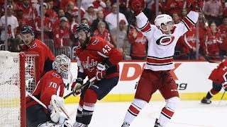 Brock McGinn tips home double-overtime winner to eliminate Capitals in Game 7 by NHL