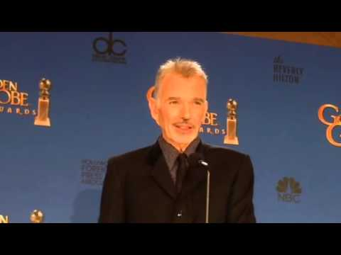 Billy Bob Thornton and 'Fargo' cast backstage at Golden Globes