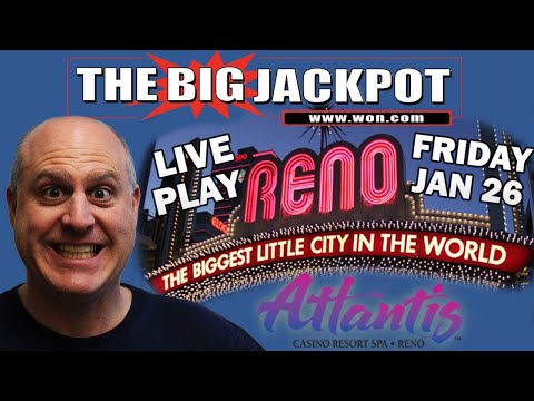 Live from Atlantis Casino and Resort in Reno Mega Jackpot Time