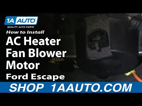 How To Install Replace AC Heater Fan Blower Motor Ford Escape Mercury Mariner 01-07 1AAuto.com