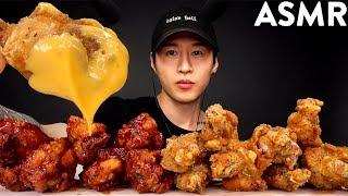 ASMR CHICKEN WINGS + CHEESE SAUCE MUKBANG (No Talking) EATING SOUNDS | Zach Choi ASMR