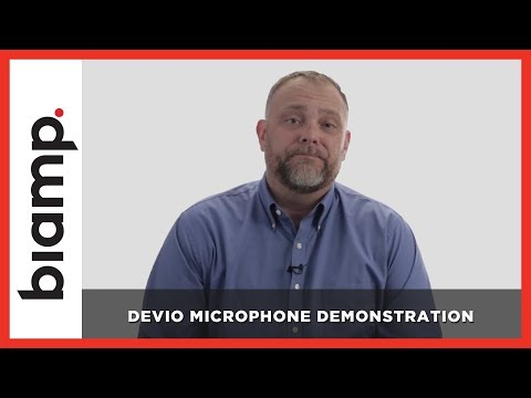 Biamp Devio: Devio Microphone Demonstration