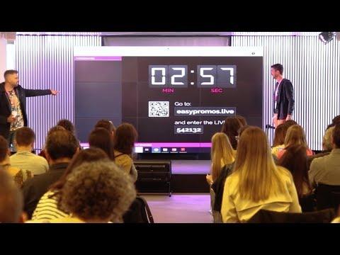 Easypromos lanza una nueva aplicación para hacer sorteos en directo en eventos, congresos y talleres