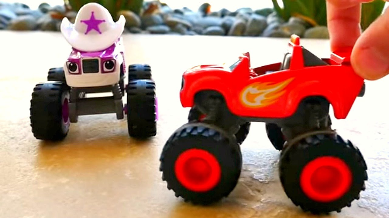 Toy Monster Trucks Slow Motion WATER SPORTS – Blaze & Starla Monster Machines!