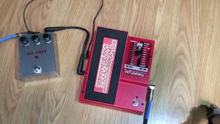 Demo of the DigiTech Whammy V pitch shifting pedal.Starts out clean from my strat to my amp, then I add a Big Muff clone I built.Guitar: Fender Stratocaster with SSL-5 Bridge Pickup, CS69 Middle, FAT50 NeckAmp: Reeves Custom 100Speaker: 2x12 Loaded with Eminence Swamp Thangs