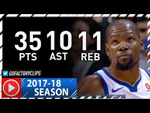 Kevin Durant Triple-Double Full Highlights vs Hornets (2017.12.06) - 35 Pts, 10 Ast, 11 Reb, SICK!