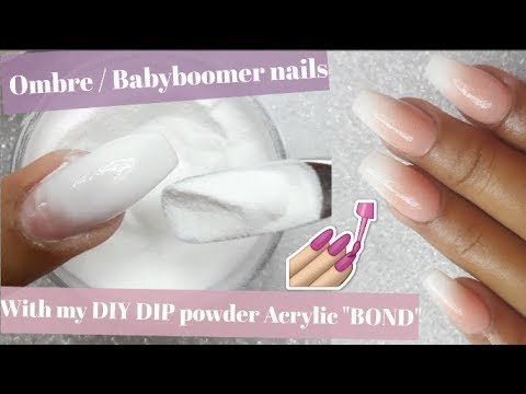 Acrylic nails - How to do Ombre/ Babyboomer Nails with my DIY Dip powder Acrylic
