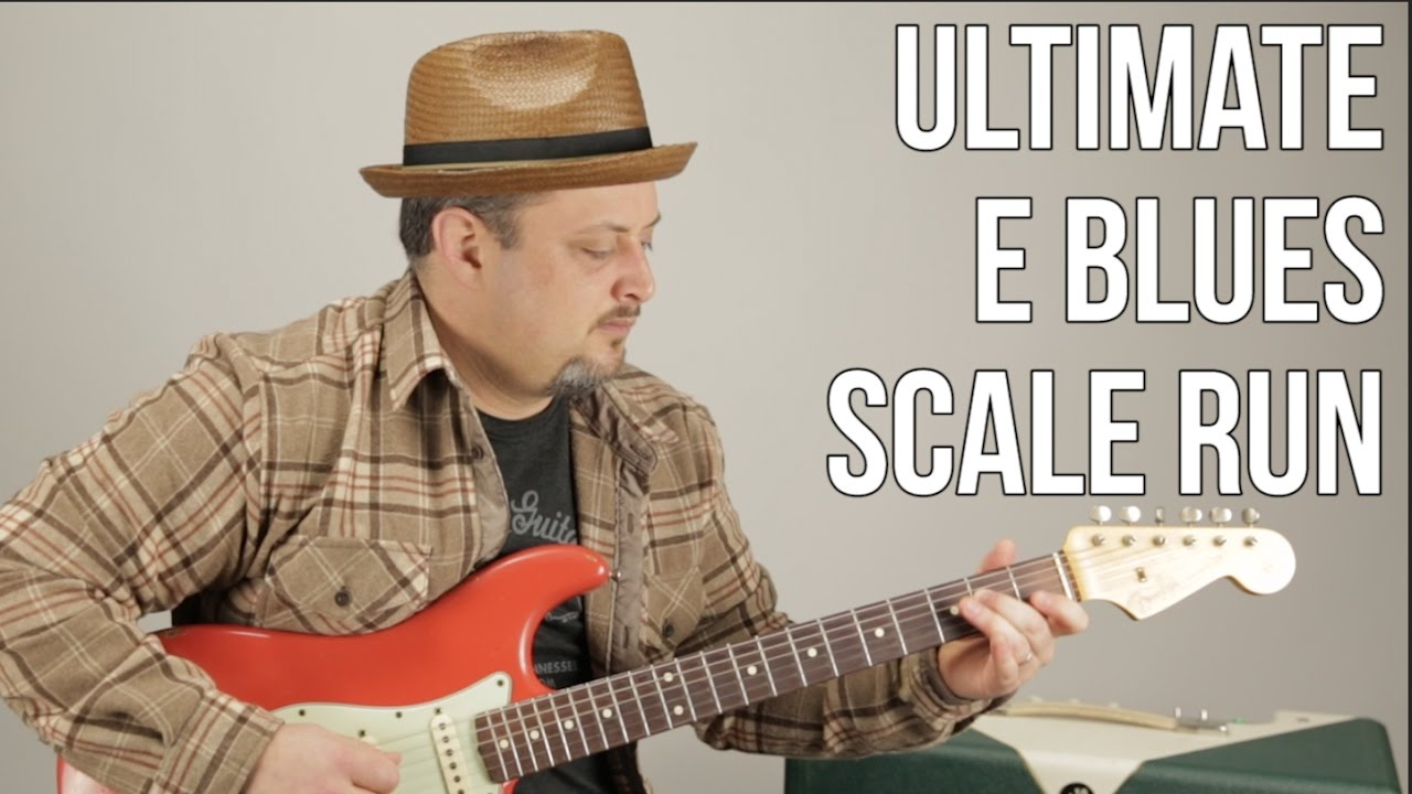 Ultimate E Blues Scale Run – Marty Schwartz Blues Guitar Lesson