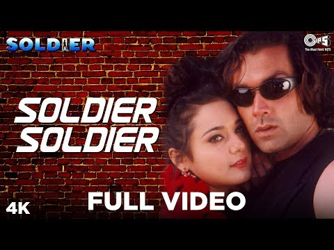 Download Soldier Soldier Full Video - Soldier | Bobby Deol & Preity Zinta | Kumar Sanu, Alka Yagnik HD Mp4 3GP Video and MP3