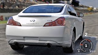 Forza Motorsport 3 - Infiniti G37 Coupe Sport 2008 - Test Drive Gameplay (HD) [1080p60FPS]------------------------------------------Game Information:Forza Motorsport 3 is a racing video game developed for Xbox 360 by Turn 10 Studios. It was released in October 2009. It is the sequel to Forza Motorsport 2 and the third installment in the Forza series. The game includes more than 400 customizable cars (more than 500 cars in the Ultimate Collection version) from 50 manufacturers and more than 100 race track variations with the ability to race up to eight cars on track at a time. These cars vary from production cars to race cars such as those from the American Le Mans Series.__________________________________________