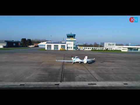 Der Flughafen Kiel-Holtenau aus Drohnenperspektive