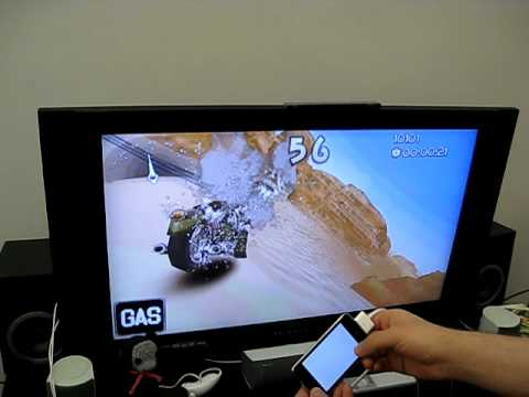 iphone video game - This is our Moto Chaser game running on the official iPhone & iPod Touch 2.2 OS, but outputing the video to TV using iPod AV cables. We are using the MPTVOut...