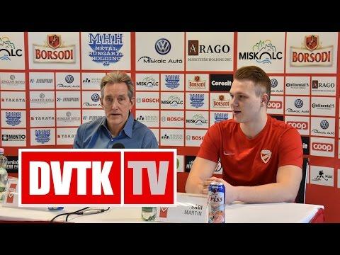 """""""Nem lesz könnyű dolgunk""""   2016. november 17.   DVTK TV"""
