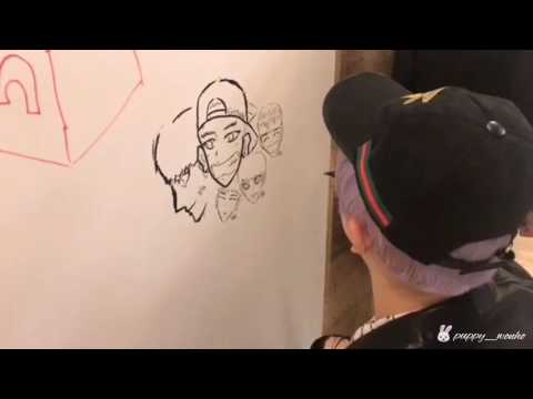 Wonho drawing MX members