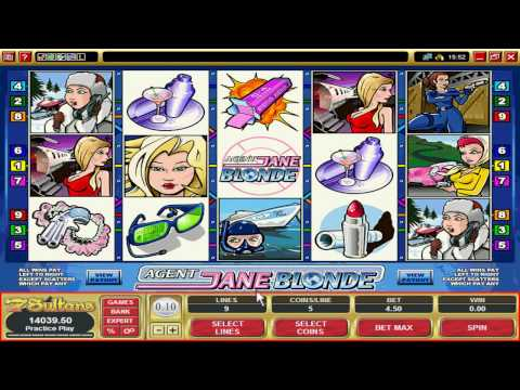 Video Slot Casino Games - Agent Jane Blonde Preview from 7Sultans